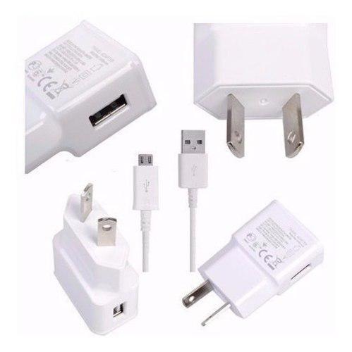 Cargador Usb 5v 2a Con Patas Oblicuas + Cable Micro Usb