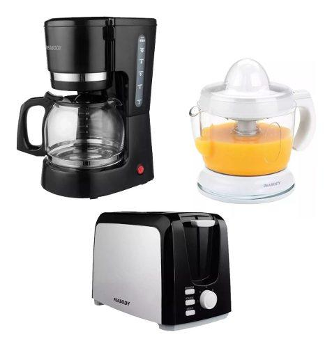 Combo Desayuno Peabody Tostadora + Cafetera + Exprimidor
