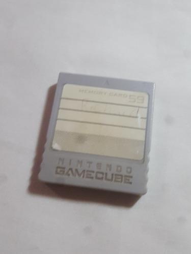 Memoria Nintendo Gamecube Memory 59 Bloques Original