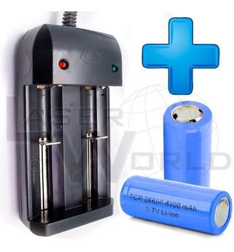 3 Pilas Batería 26650 Recargable 3.7v 4200mah Cargador