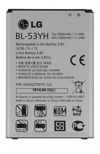 Bateria Lg G3 Optimus D855 G3 Stylus D690 Bl-53yh Original