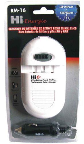 Cargador De Baterias Y Pila Hi Energie Rm16