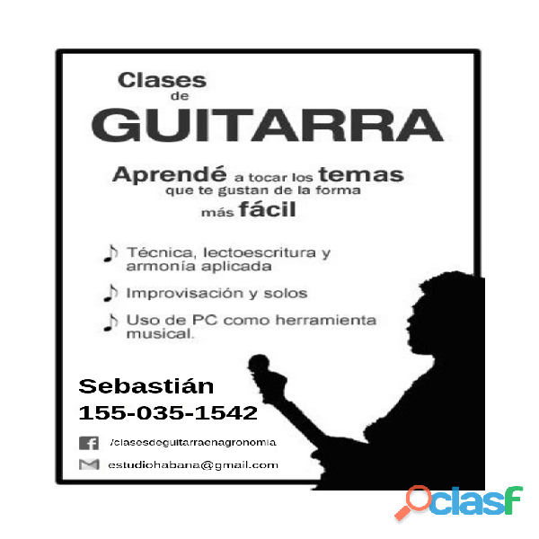 Clases de Guitarra en Agronomia