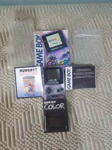 Consola Game Boy Color Con Todos Sus Manuales...