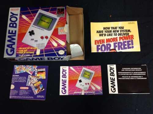 Game Boy Classic En Caja Con Manuales, Como Nuevo!!!!