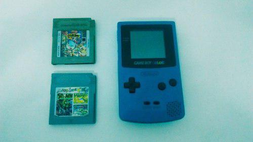 Game Boy Color + 2 Juegos! + Saga Completa De Pokemon Red