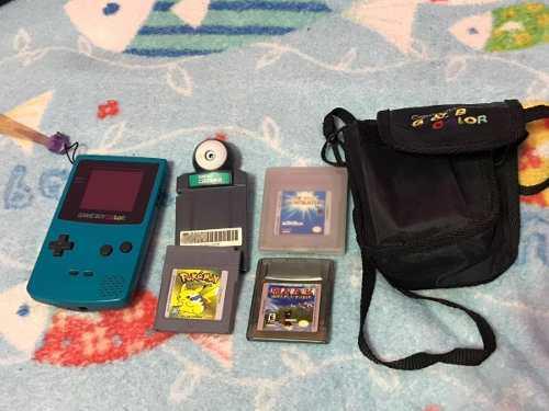 Game Boy Color Con Juegos Y Accesorios