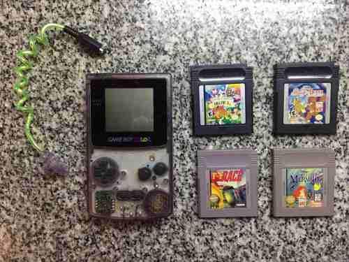 Game Boy Color Excelente Estado + Worm Light