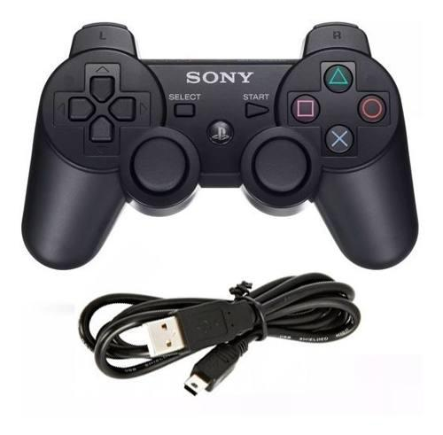 Joystick Ps3 Sony Dualshock Play 3 Original + Cable Para Ps3