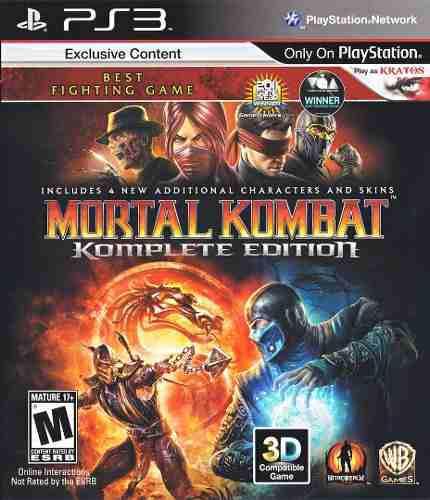 Mortal Kombat 9 Edicion Completa Ps3 Digital Tenelo Ya