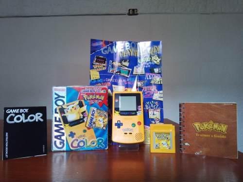 Nintendo Game Boy Color Edición Limitada Pokemon Amarillo