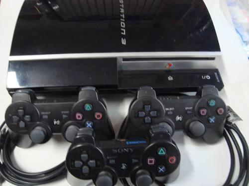 Playstation 3 Ps3 Fat C/3 Mandos, 220 V. Buen Estado, Boedo