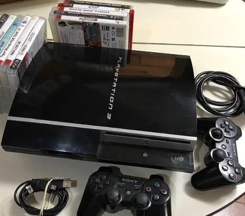 Ps 3 Play Station 3 Sony + 2 Controles + 12 Juegos