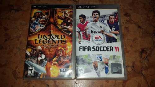 2 Juegos De Psp Fifa Soccer 11 Y Untold Legends