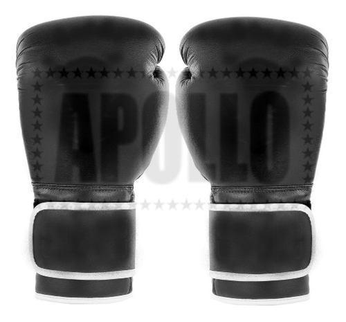 Guantes De Boxeo Cuero Sintetico 12oz Box Boxing Ufc Black