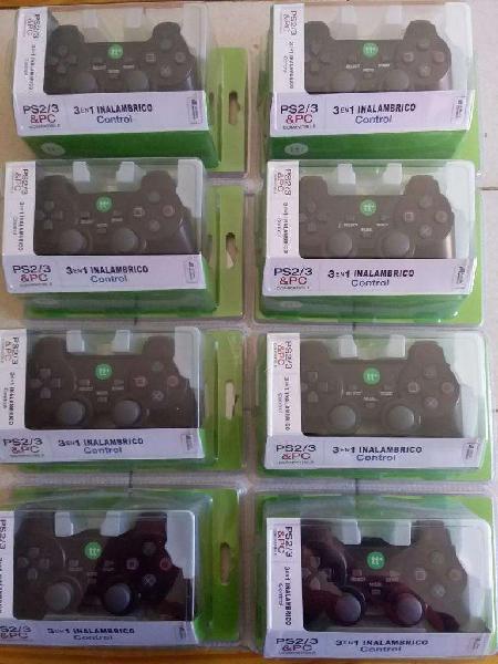 Joystick Control Gamepad Inalámbrico 3 en 1 Ps2 Ps3 Pc
