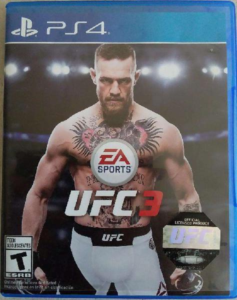 Juego Físico Original UFC 3 Playstation 4 PS4 ENVIOS AL