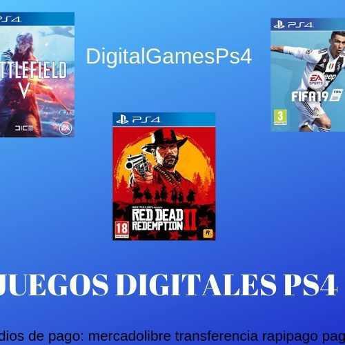 Juegos Digitales Ps4 Alquiler Por 7 Dias Varios Titulos