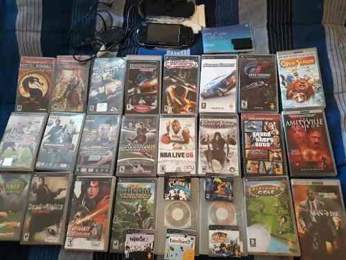 Lote De Juegos Psp + Consola Psp Impecable