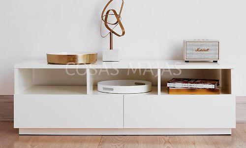 Mueble Tv Led Mesa Plasma Modular Rack Laqueado Moderno 1.4m