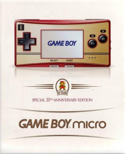 Nintendo Gameboy Advance Micro Edicion Especial 20 Años Gba