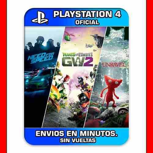 Plants Vs Zombies Gw2 Ps4 + 2 Juegos De Regalo 15' Min |2|