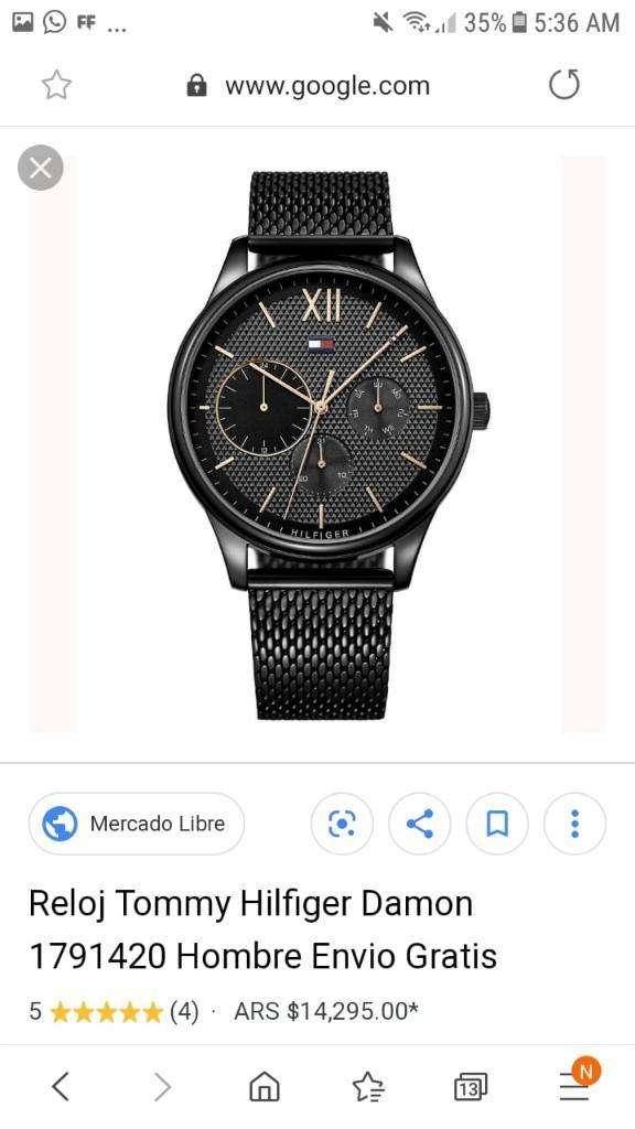 Reloj Tommy Hilfiger Hombre Negro