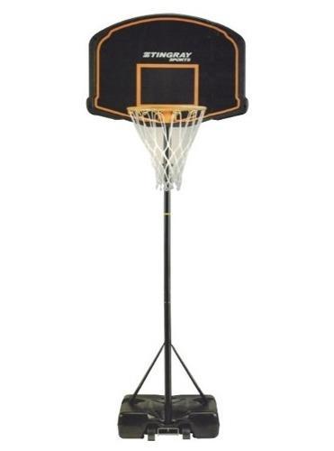 Aro Basket Basquet Con Pie O Pared Metal Regulable Calidad