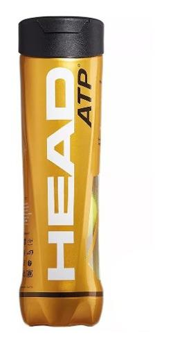 Pelotas Tenis Head Atp Gold Tubo X 3 Pelotitas Padel Tennis
