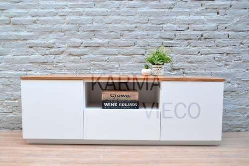 Mueble Tv Lcd Mesa Plasma Modular Laqueado Rack Cajon Puerta