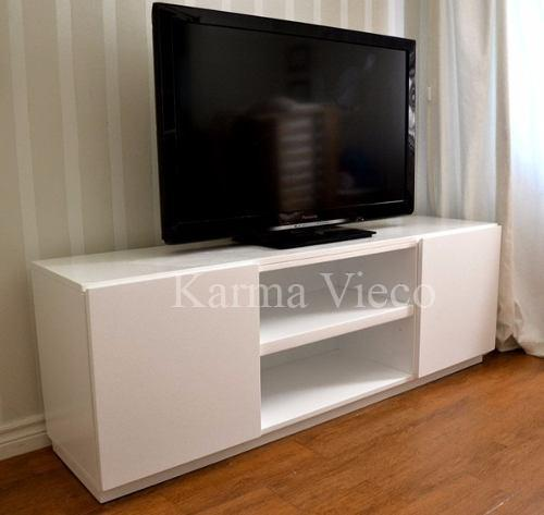 Mueble Tv Lcd Mesa Plasma Modular Laqueado Rack Puertas 1.4