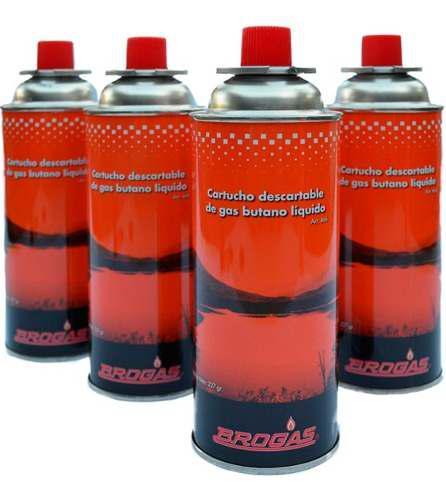 Pack 4 Cartuchos De Gas Butano Brogas 227gr Linea Nueva