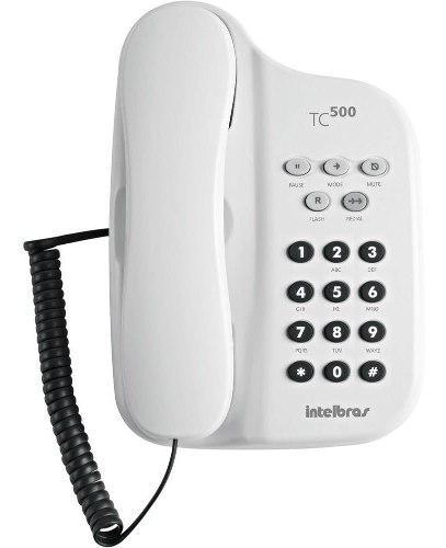 Telefono Fijo Intelbras Tc500 De Mesa Colgar Rellamada Flash