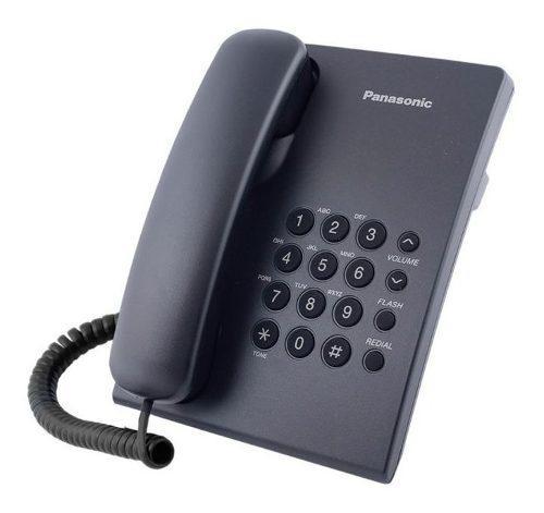 Telefono Panasonic Con Cable De Linea Alambrico Negro Blanco