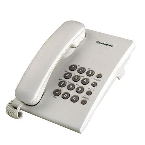 Teléfono Panasonic Ts500 Con Cable De Mesa Blanco Lhconfort