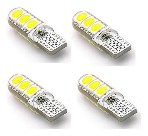 4 Lampara Led Posicion T10 Piojito Silicona Gel Canbus 12v