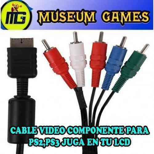 Cable Audio Y Video Componente 5 Rca Ps2 Y Ps3 Lcd -local-