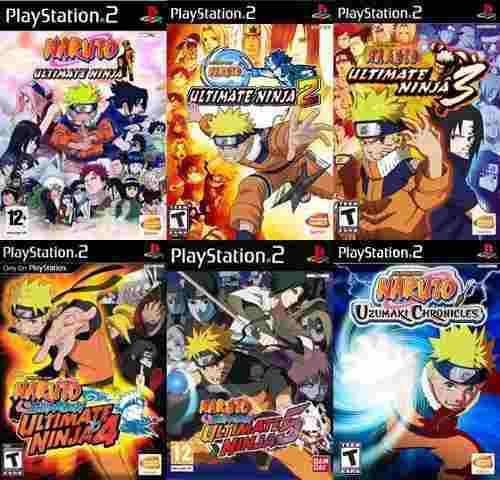 Naruto Ps2 Collection (6 Discos) Juegos Para Playstation 2