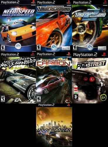Need For Speed Playstation Ps2 Saga Completa (7 Discos)