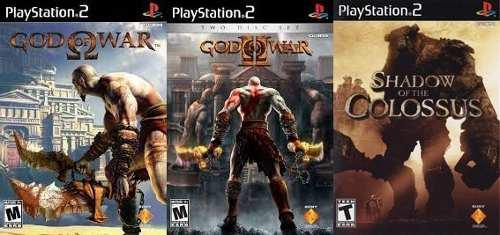 Ps2 God Of War 1 Y 2 Shadow Of The Colossus Ps2 (3 Discos)