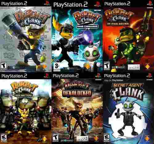 Ratchet And Clank Saga Ps2 Coleccion Ps2 (6 Discos) Ps2