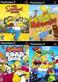 The Simpsons Collection Ps2 Juego Playstation 2 (4 Discos)