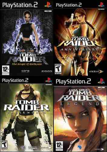 Tomb Raider Collection Juego Para Playstation 2 (4 Discos)