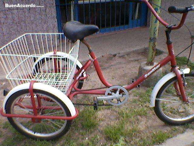 Vendo bici triciclo con carro sin uso en Guaymallén
