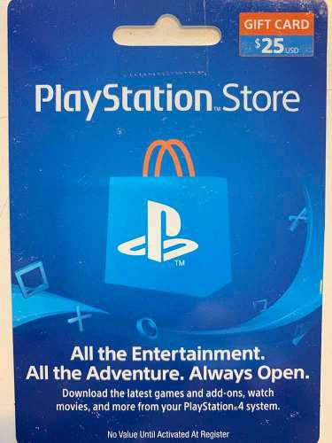 Gifcard De 25u$s Para Play Station 3/4, Pc Vita Cuenta Usa