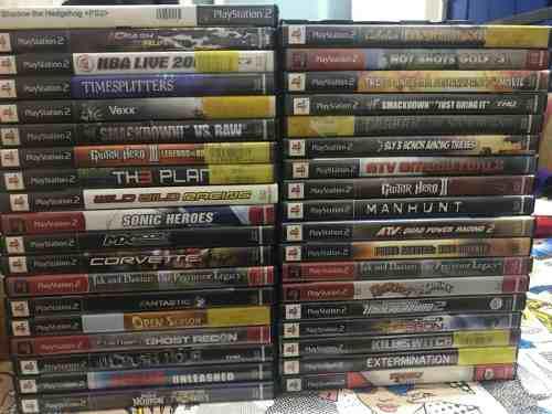 Lote 38 Juegos Originales Playstation 2 Ps2 Titulos En Fotos