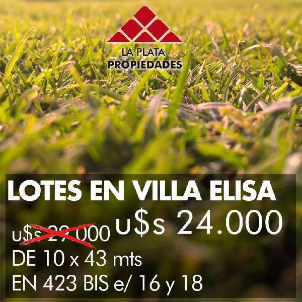 Lotes V. Elisa Oportunidad Ofertas