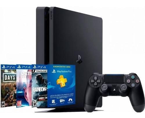 Play Station Sony Ps4 1tb Hits 5bndl Dg+detroit+rw+ps Plus