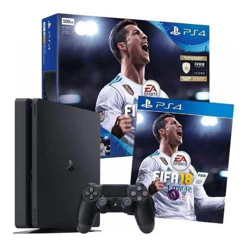 Ps4 Slim 1tb Sony Play Station 4 + Fifa 18. Oferta!