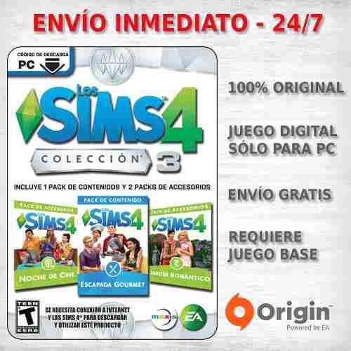 3x Expansiones Los Sims 4 Coleccion Nº 3 Juego Pc Original